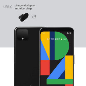Google Pixel 4 XL Charging Cover USB-C Plug Set 3 Pack Anti Dust Silicone Cap