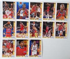 1991-92 Upper Deck Washington Bullets Team Set Of 13 Basketball Cards