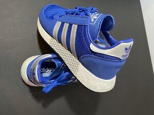 Adidas Mens Size 9 Originals Marathon X 5923 Boost Blue Silver Shoes G26782 sne