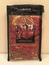 J. Queen New York Paddington European Euro Pillow Sham Red Gold