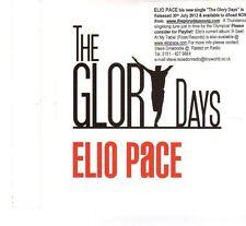 (FT207) Elio Pace, The Glory Days - 2012 DJ CD
