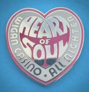 NORTHERN SOUL BADGE - WIGAN CASINO - HEART OF SOUL ALLNIGHTER - £1 BARGAIN