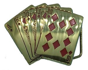 Cards Belt Buckle