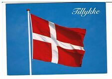 Postcard: Tillykke, Dannebrog, DENMARK