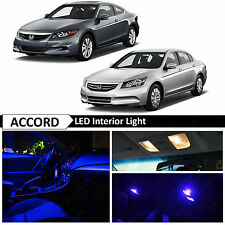 14x Blue Interior LED Lights Package kit Fits 2003-2012 Honda Accord