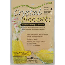 Crystal Accents Topaz Yellow Water Storing Gel - Makes approximately 8.5 Pints