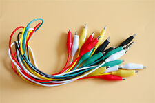 10Pcs Test Leads Wire Jumper Cable Double-ended Crocodile Alligator Clips
