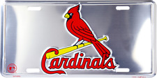 ST. LOUIS CARDINALS CHROME LICENSE PLATE MLB CAR TRUCK CAR TAG MAN CAVE ST SIGN