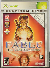 Fable: The Lost Chapters (Platinum Hits) (Microsoft Xbox, 2005) Game Case Manual