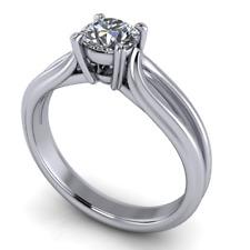 Anello Solitario di Alta Gioielleria Oro 18Kt Diamante Brillante ct. 0,40 F/VS1