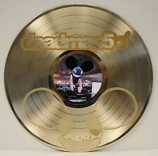 Deadmau5 LTD Edition Laser Etched Image Gold LP Record Wall Art