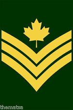 "5"" CANADA ARMY SERGEANT HELMET BUMPER DECAL STICKER MADE IN USA"