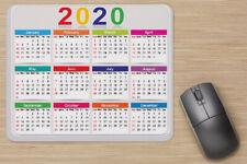 2020 Calendar Anti-Slip Mouse pad Desktop Mousepad by CJPRINTS Chevron Purple and Black Pattern
