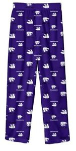 New NWT Kansas State Wildcats Pajamas Pants Pjs Youth Boys Size XL 18/20