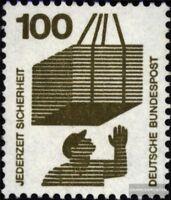 BRD (BR.Deutschland) 702A Rd mit Zählnummer gestempelt 1971 Unfallverhütung