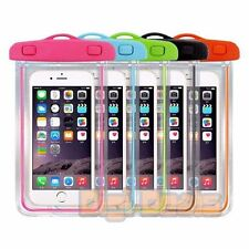 Waterproof Case Pouch Bag Glow in the Dark For iPhone X Kayaking Swimming