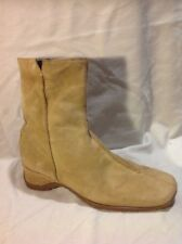 George Beige Ankle Suede Boots Size 8