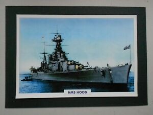 NAVAL PRINT-HMS HOOD (1918) BRITISH BATTLE CRUISER