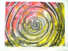Pintura De La Lona Arte Moderno Abstracto 'Angry Vortex número 9' 16x12 pulgadas De Acrílico
