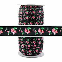 100 Yard Spool Fold Over Elastic 5//8in Wide FOE Ivory Glitter Fairy