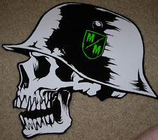 "METAL MULISHA Green Crest Helmet Skate Sticker 12"" motocross skateboard decal"