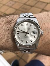 Rolex DateJust 36mm Stainless/White Gold Diamond Dial Jubilee Bracelet Ref.16234