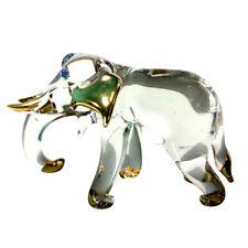 Elephant Miniature Figurine Animal Hand Blown Glass Art Collectible Gift Decor#2