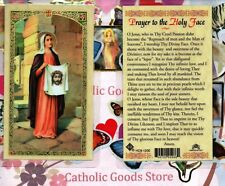 Saint St. Veronica - Prayer to The Holy Face - Laminated Holy Card