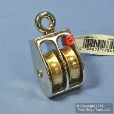 "National Hardware Nickel Plated Die-Cast 1"" Fixed Double Pulley 3204BC N223-420"
