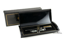 Platinum Belage Black with Gold Trim Fountain Pen - 14k Music Nib