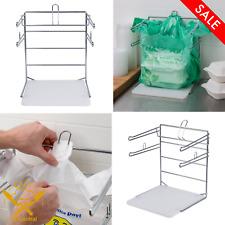 T Shirt Shopping Bag Rack Stand Store Holder Dispenser Grocery Bagging Chrome