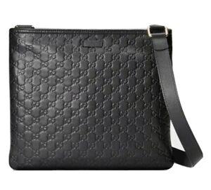 GUCCI Guccissima Leather Messenger Crossbody Bag / M360-21115