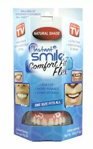 Instant Smile Comfort Fit Flex Cosmetic Teeth Natural Shade Upper Veneer