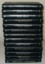 BIG LOT OF 13 AGATHA CHRISTIE MYSTERY COLLECTION LEATHERETTES MISS MARPLE POIROT