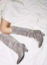 NEW Jeffrey Campbell Senita Knee High Modern Gray Suede Boots 6 7 8 9 10