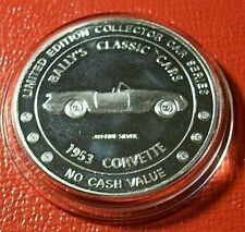 "1953 Corvette "" Bally's Classic Cars "" 1 Troy oz.999 Silver 1996 Limited Edition"