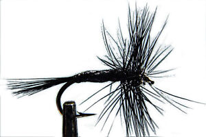 1 x Mouche Sèche Araignée Noire H14/16/18/20/22 micro black spider fly trout