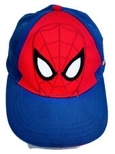Ultimate Spiderman Marvel Kids Cap Hat Blue One Size Hook & Loop Adjustable
