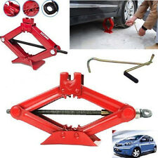 1 Ton Tonne Scissor Wind Up Jack for Car Van Garage-Chromed Crank Speed Handle