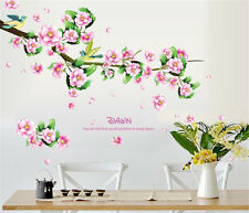 Spring flower home bedroom Decor Removable Wall Sticker Decal Decoration