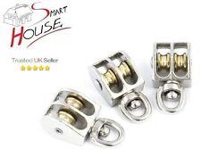 12 mm de diámetro Metal Doble Polea Giratoria ojo Cuerda Cuerda Polea para 4mm
