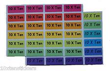 [10xten] multi colour name labels waterproof School Childcare name labels 40pcs