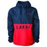 Lakai Skateboard Rewind Half Zip Windbreaker Coat Jacket Navy Red DISCOUNTED