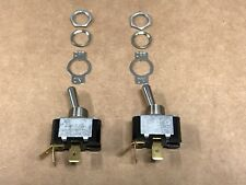 (2 Pack) Heavy Duty Toggle Switches SPST ON/OFF 15A-125V Made in USA by CARLING