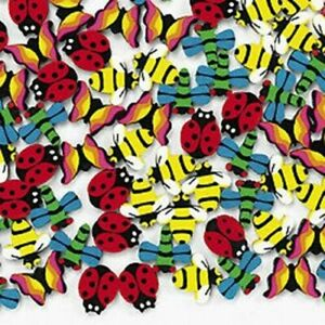 144 Mini Insect Erasers Butterfly, Ladybug, Bee Great party favor; counting item