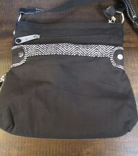Thirty One Black/White expandable Crossbody Bag Shoulder Bag Purse