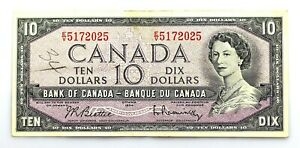 Canada - 10 Dollars. 1954. MBC+/VF+