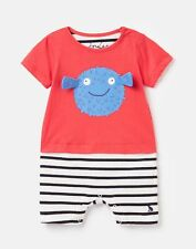 Joules Baby Boys Pebble Mock Layer Babygrow  - Red Puffa Fish - 9M-12M