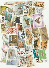 ANIMALS 50 USED DIFFERENT STAMPS