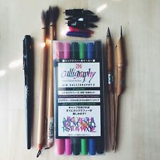 Calligraphy Supplies Lot - Pens, Nibs, Chinese Calligraphy Brushes, Markers